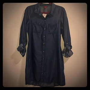 GUESS Taryn Chambray Shirtdress